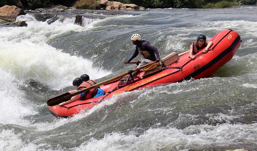 White Water Rafting on River Nile in Uganda