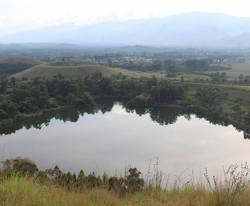 crater lake in Fort Portal